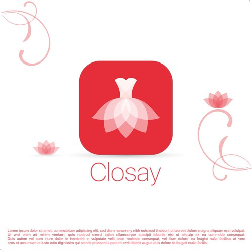 Clean and elegant icon concept based from contest holder homemade icon for Closay.