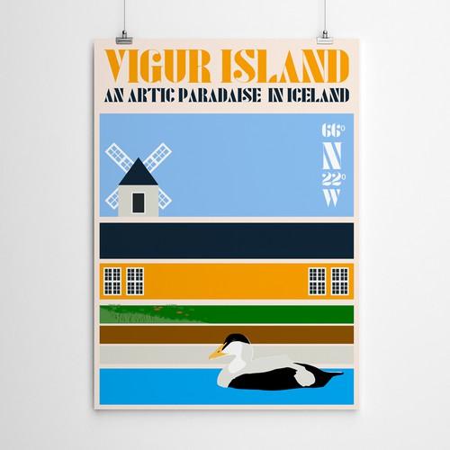 Vigur Island Poster