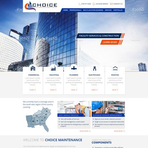 Choice Facility Services & Construction Website