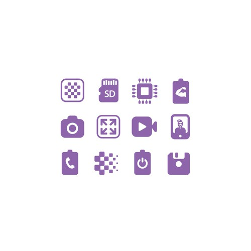 """Icon set for """"Mobile Price Card"""""""