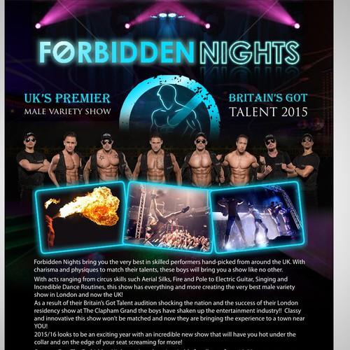 Flyer for Forbidden Nights