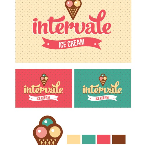 Create a logo for an awesome ice cream shop!