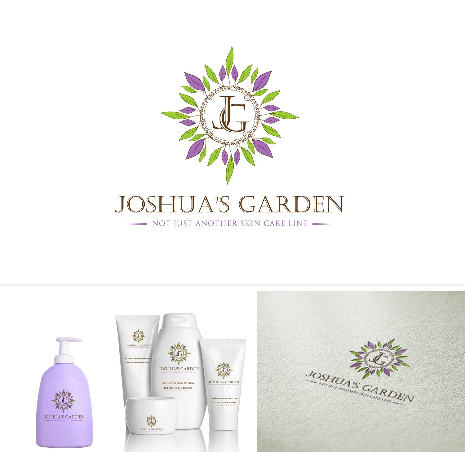 Create an organic logo capturing the essence of our all natural skin care line.