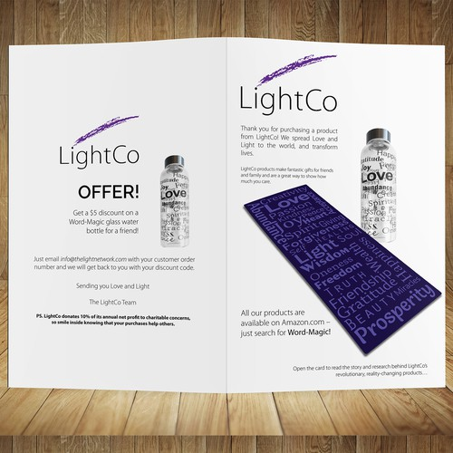 Brochure design for LightCo