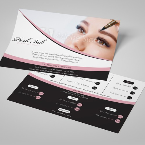 Flyer permanent make-up clinic