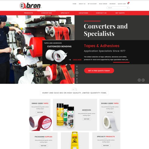 Bron Tape Web Design