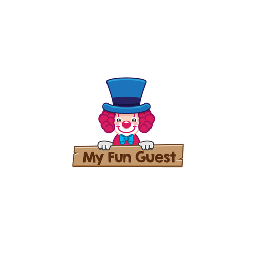 Child oriented logo for character rental