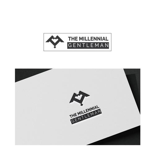 Minimalistic letter M logo