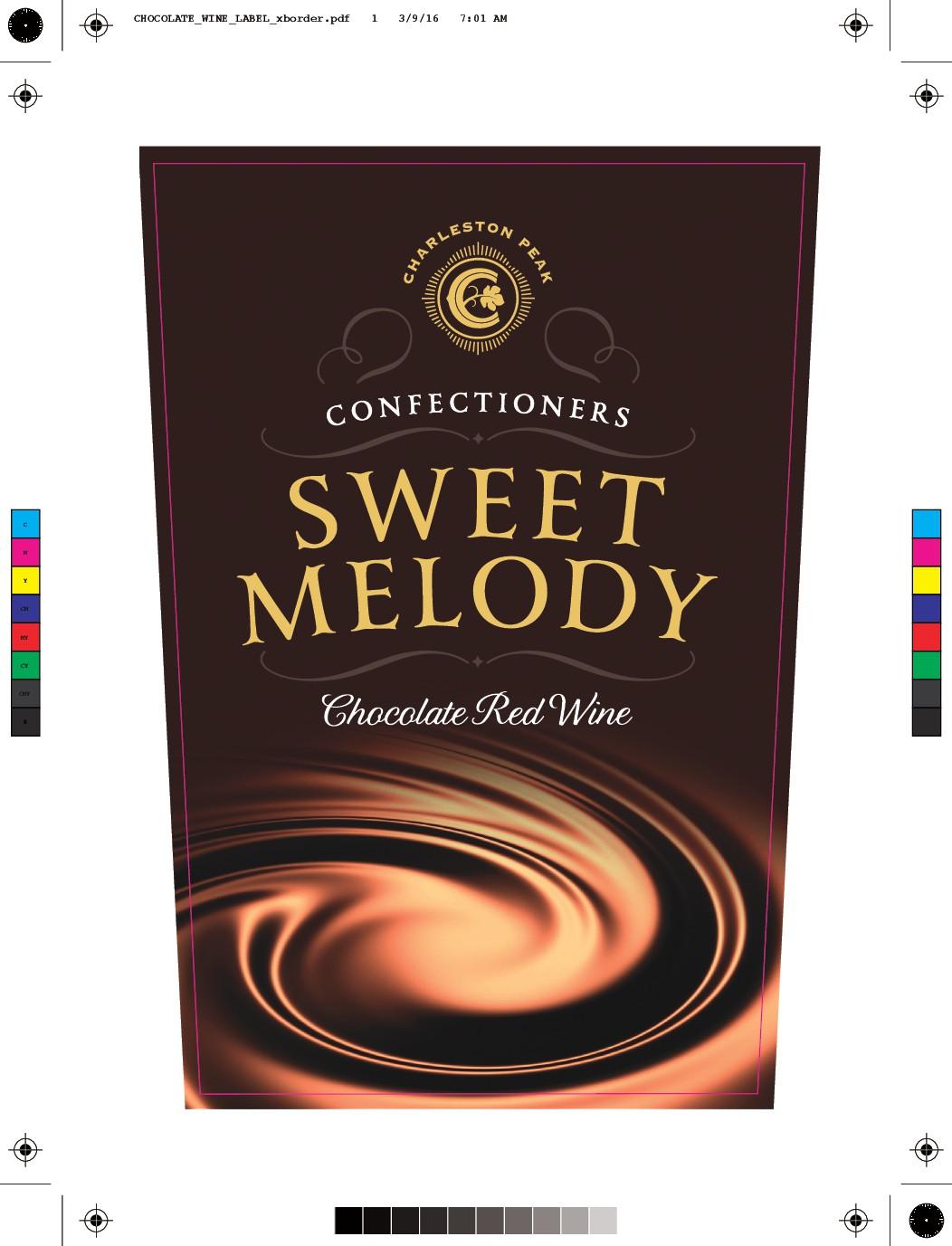 Chocolate wine label