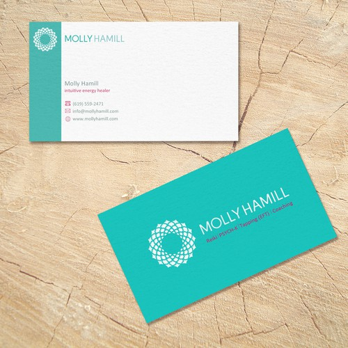 business cards for intuitive energy healer