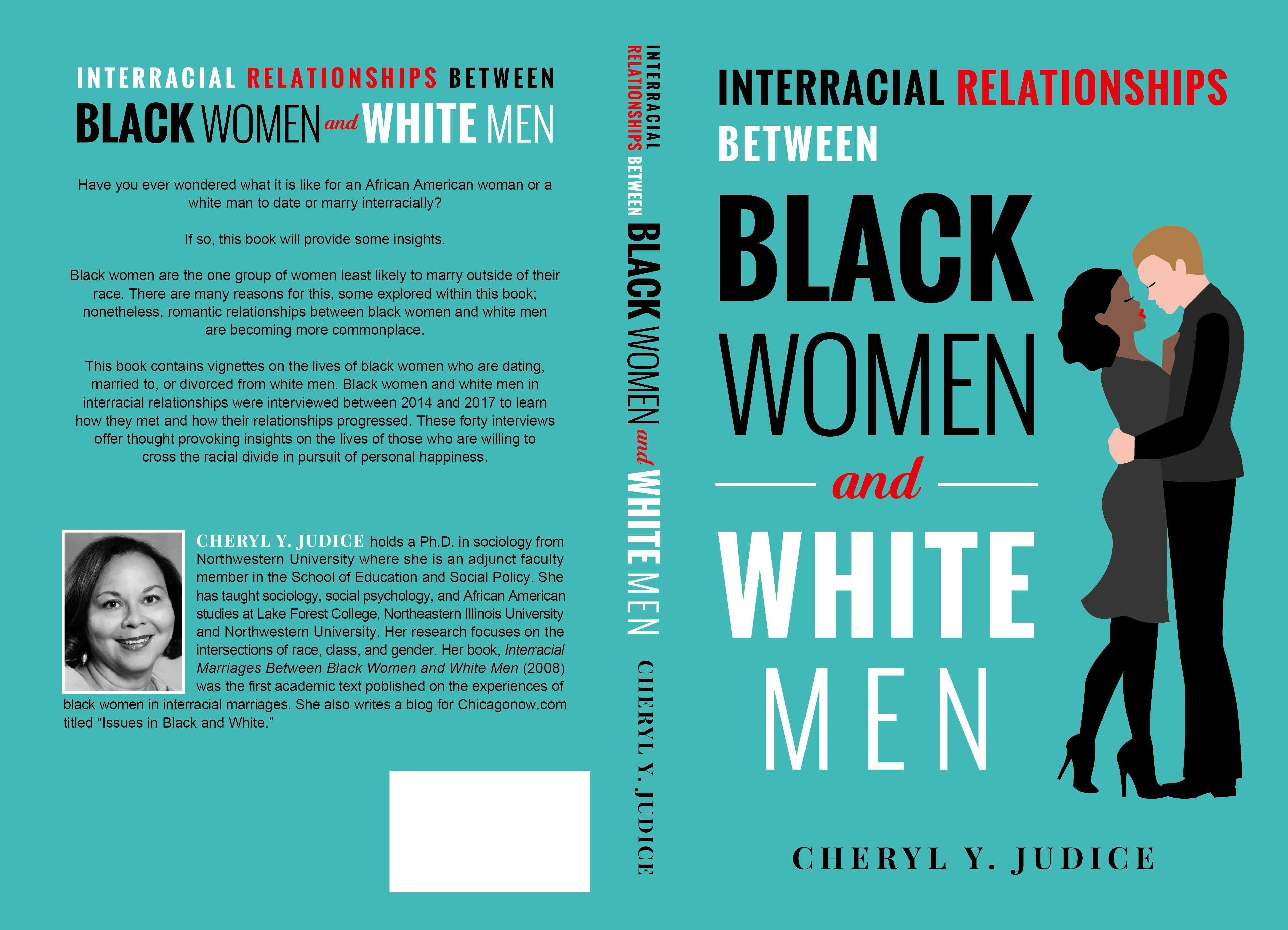 Sophisticated design showcasing a romantic relationship between a black woman and a white man