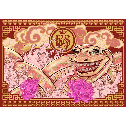 Chinese Snake Ornament
