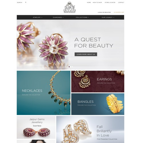 Jaipur Gems website design