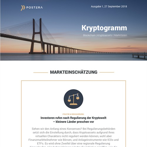 Newsletter Blockchain: Investments and Consulting