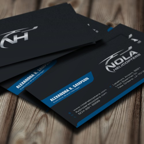 Bussiness card For Nola Helicopter