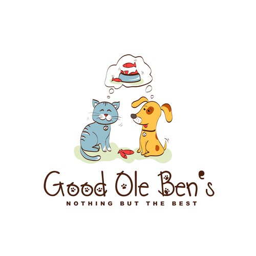 """Product Label Design for fish oil product - """"Good Ole Ben's""""."""