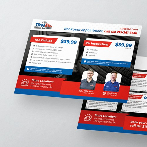 Marketing Direct Mailing Postcard Design