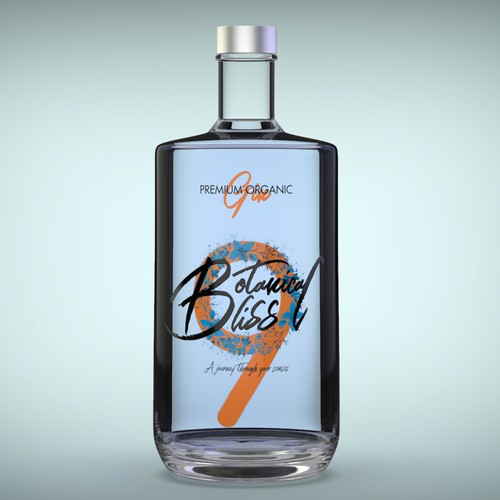 Gin label design