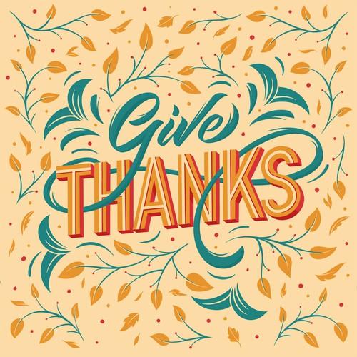Thanksgiving lettering design