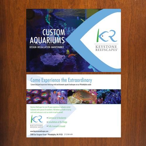 Aquarium design postcard