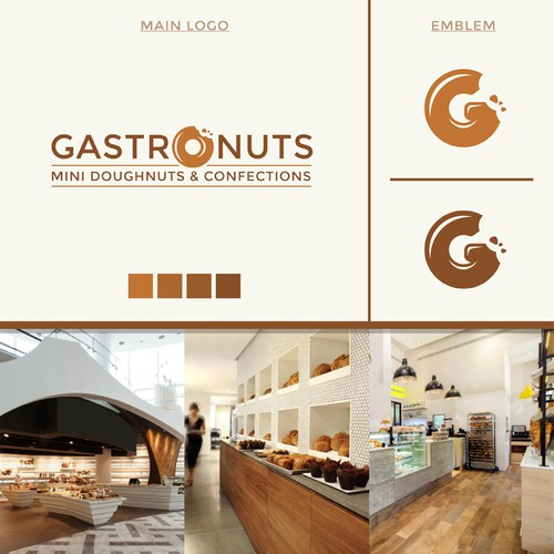 Modern and classy logo for Mini Doughnut and Confection co.