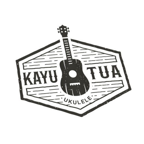 """Logo for  """"Kayu Tua"""" Ukulele Store!"""