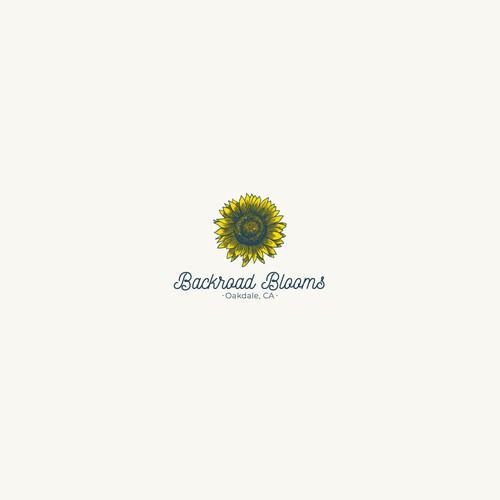Logo for a flower farm in a rural community in Oakdale, CA.