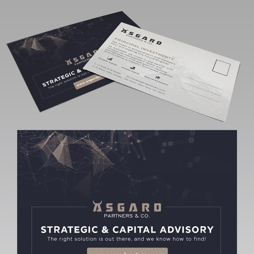 Design catchy postcard flyer for new finance firm