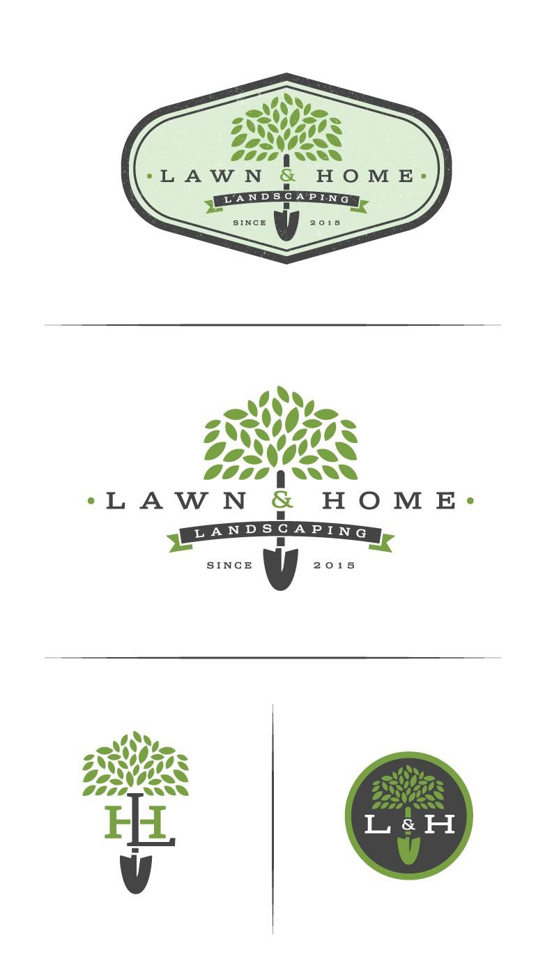 Landscaping, garden and home maintenance logo design.