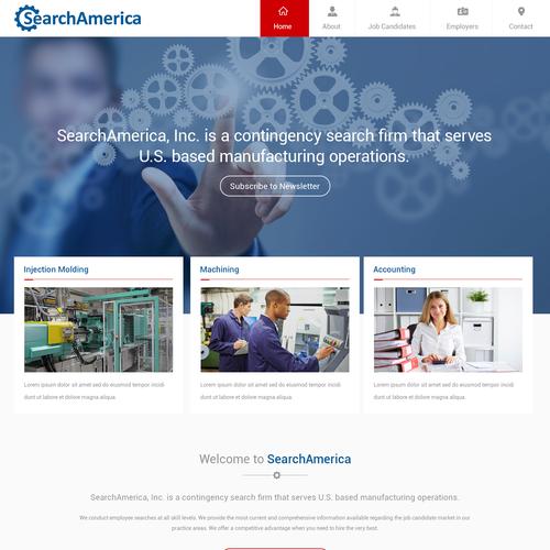 SearchAmerica recruiting website