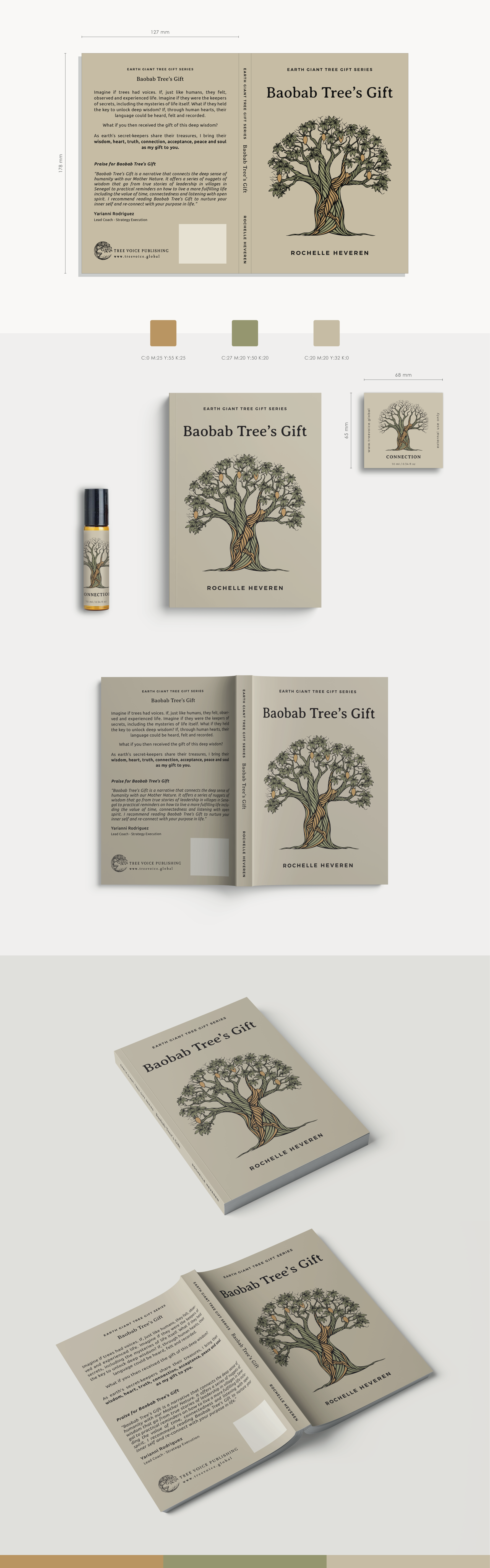 Baobab Tree's Gift - Book Cover and Essential Oil Bottle Sticker