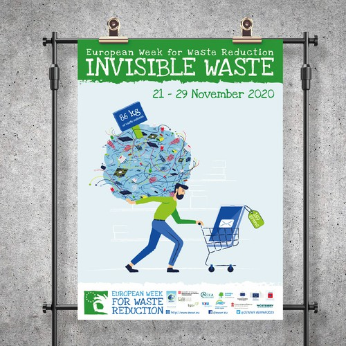 European week for waste reduction poster design