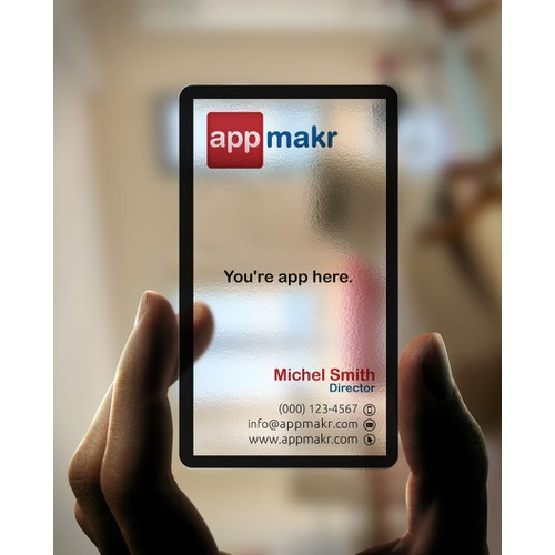 AppMakr seeking cool business cards to impress our VC's