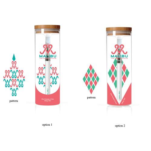 Print design on glass bottle