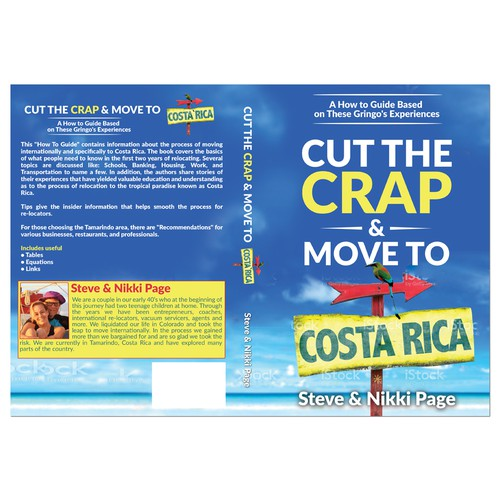 Costa Rican relocation guide needs an eye catching cover