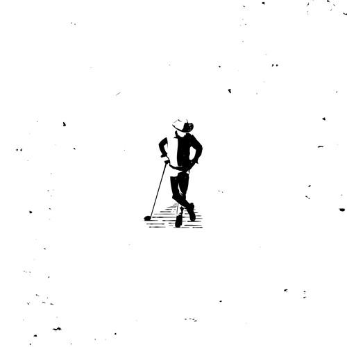 Cowboy Golfer Logo