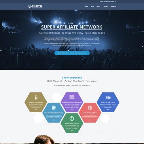 Web Design proposal for Super Affiliate Network