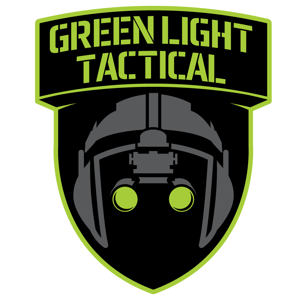 Create a Modern Combat Aviator Logo for Green Light Tactical