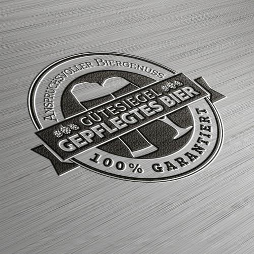 Logo-Design: Gütesiegel Gepflegtes Bier