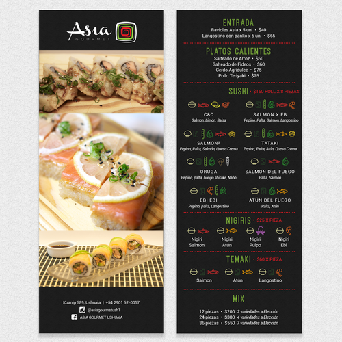 A Small Menu for Asia Gourmet