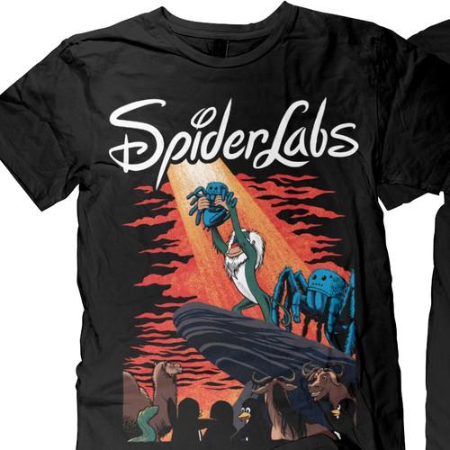 cartoon t-shirt for spiderlabs
