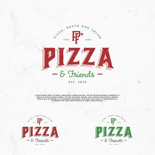 Logo design for Pizza & Friends