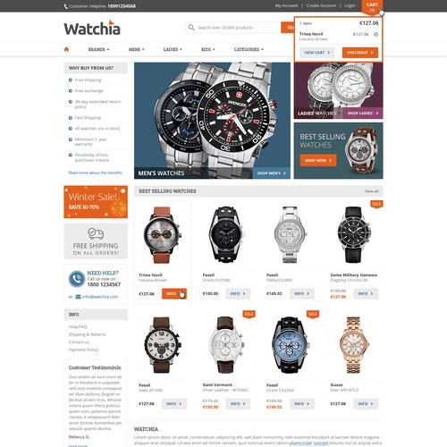 Help us create the best watchshop ever!