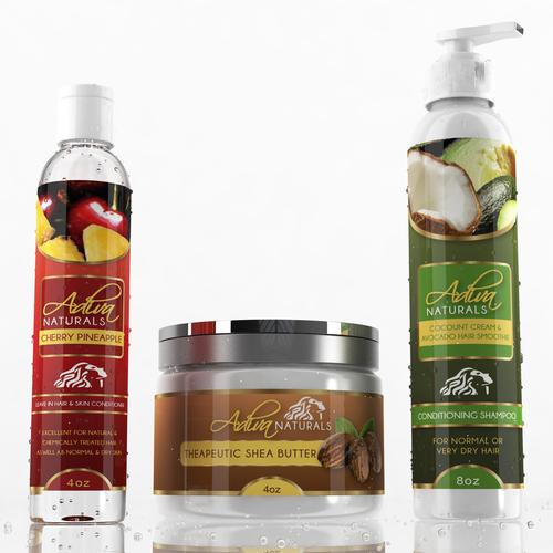 Label design for Adiva Naturals