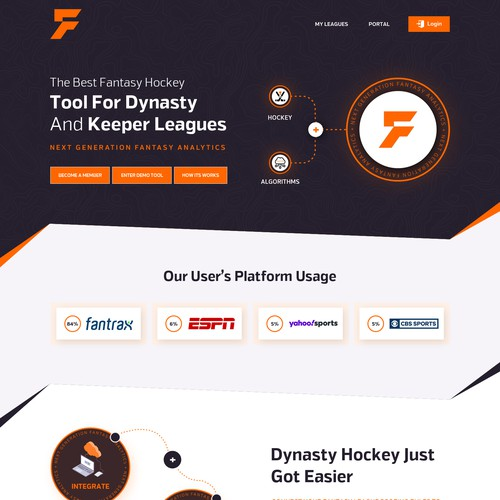 We need website design re-work for our fantasy sports startup