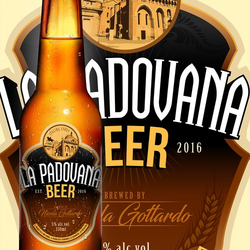 La Padovana Beer Label