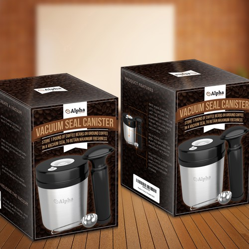 Coffee Vacuum Seal Canister Packaging