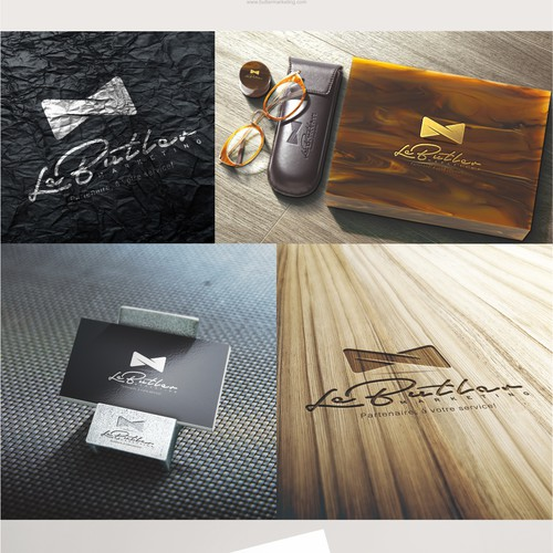 Dynamic and modern logo for Le Butler Marketing