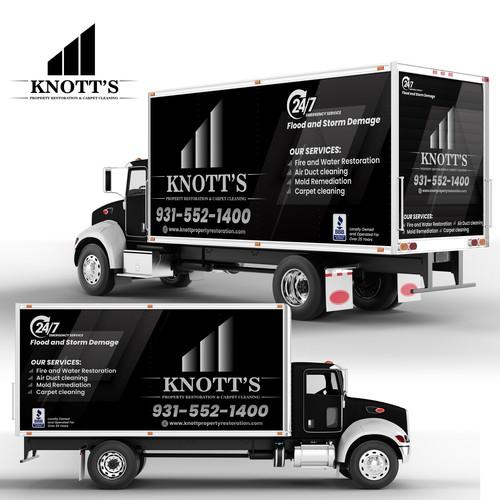 Full wrap design for Knott Company