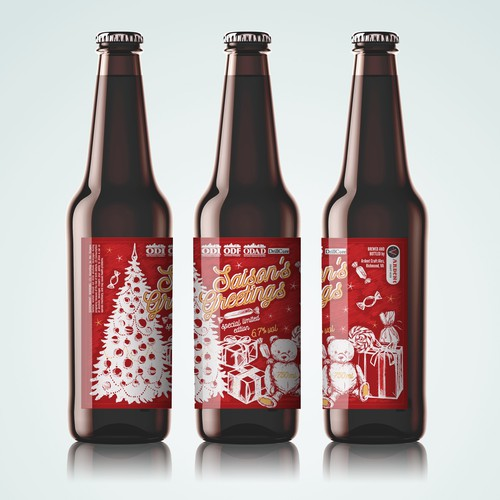 Christmas Holiday Beer Label